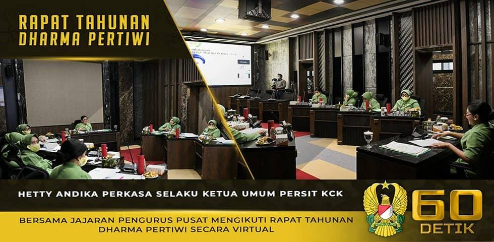Dharma Pertiwi Melakukan Rapat Tahunan, Bersama dengan Ketiga Ketua Umum Matra TNI