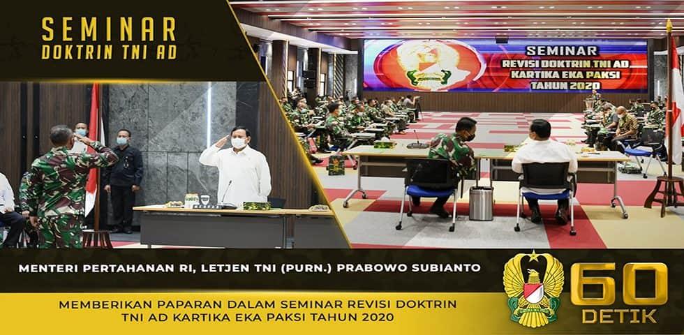 Seminar Revisi Doktrin TNI AD Kartika Eka Paksi Tahun 2020