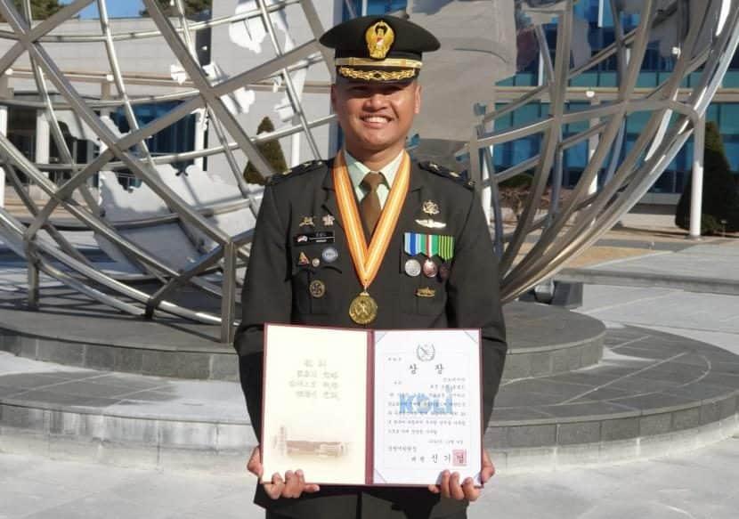 Membanggakan, Perwira TNI AD Raih Predikat Siswa Asing Terbaik Di Korsel