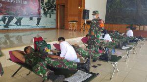 Korem 174 /ATW Merauke Gelar Donor Darah Dalam Rangka Hari Juang TNI AD Tahun 2020