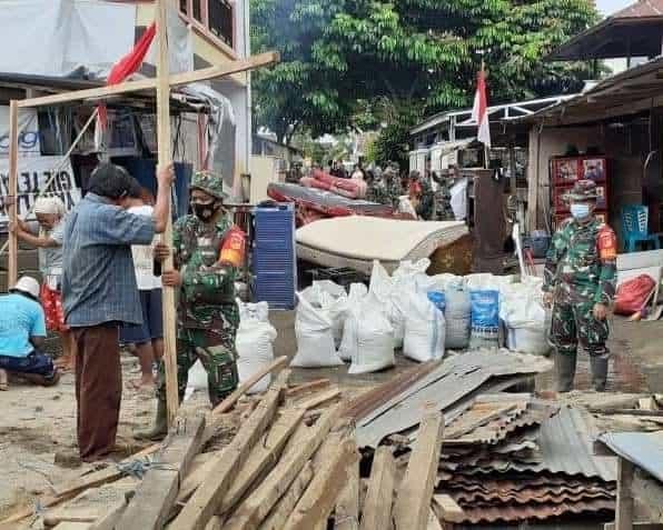 Pemulihan Pasca Bencana, Kodam XIII/Merdeka Gelar Karya Bakti