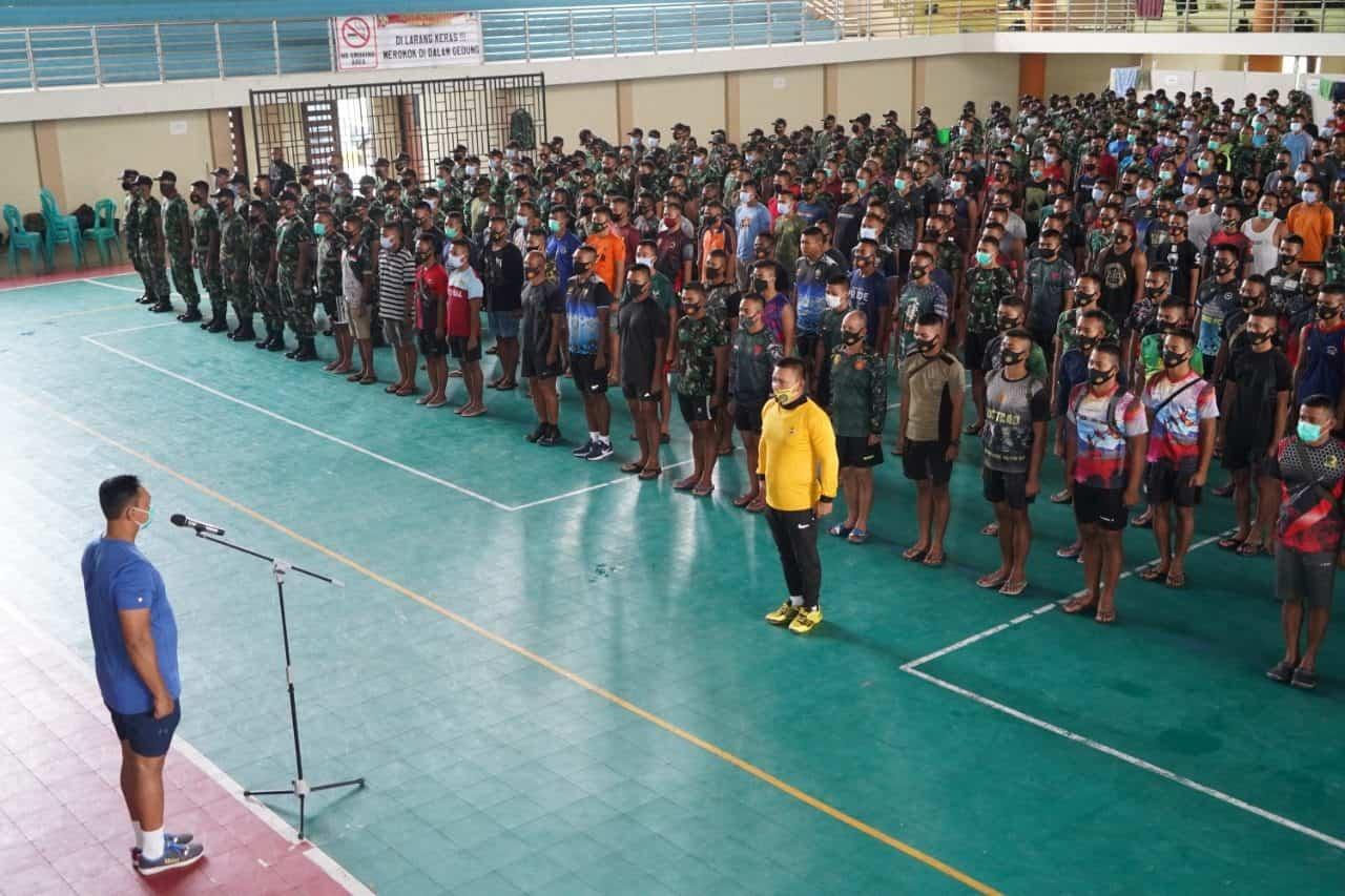 Danrem 162/WB Buka Pekan Olahraga Satgas Zeni TNI Percepatan Rehab Rekon NTB