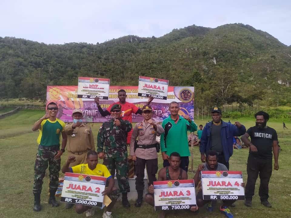 Dansatgas Yonif Para Raider 432 Kostrad Tutup Turnamen Bola Voli Waspada Cup Di Distrik Bolakme