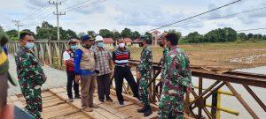 Prajurit Denzipur 8/GM Selesaikan Dua Pembangunan Jembatan Bailey di Kalsel