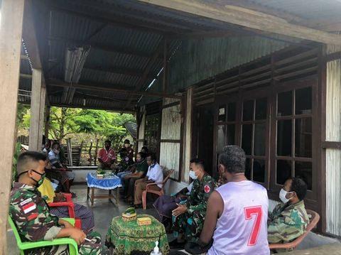 Satgas TNI Bantu Warga Selesaikan Sengketa Tanah Di Wilayah Binaannya