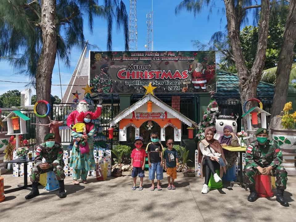 Akhir Pekan, Masyarakat Jayapura Padati Pondok Natal Satgas Yonif MR 413 Kostrad