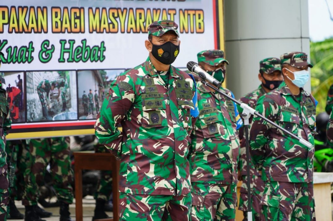 Danrem 162/WB Apresiasi Kerja Keras Pasukan Zeni TNI Membangun RTG di NTB