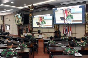 450 Perwira Siswa Ikuti Pembukaan Dikreg LX Seskoad TA. 2021 Secara Virtual