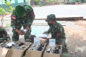 Jelang Purna Tugas, Tim Rikmat Kolakops Korem 174/ATW Periksa Materil Inventaris Pos Jajaran Satgas Yonif 125