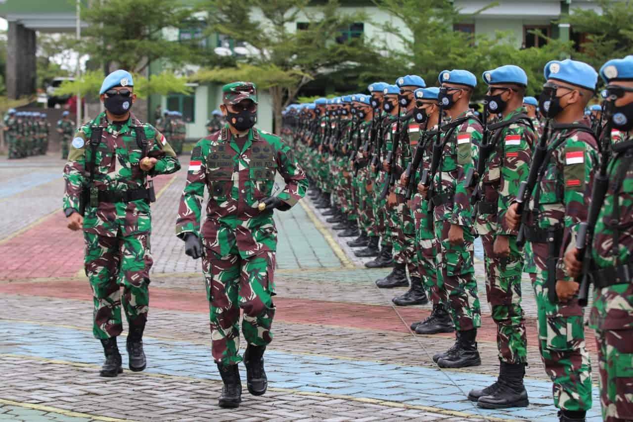 Pangdam XII/Tpr Berangkatkan Satgas BGC TNI Konga XXXIX-C MONUCO Kongo