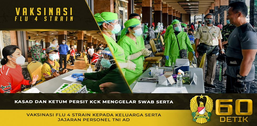 Kasad dan Ketum Persit KCK Menggelar Swab Serta Vaksinasi Flu 4 Strain Kepada Keluarga serta Jajaran Personel TNI AD