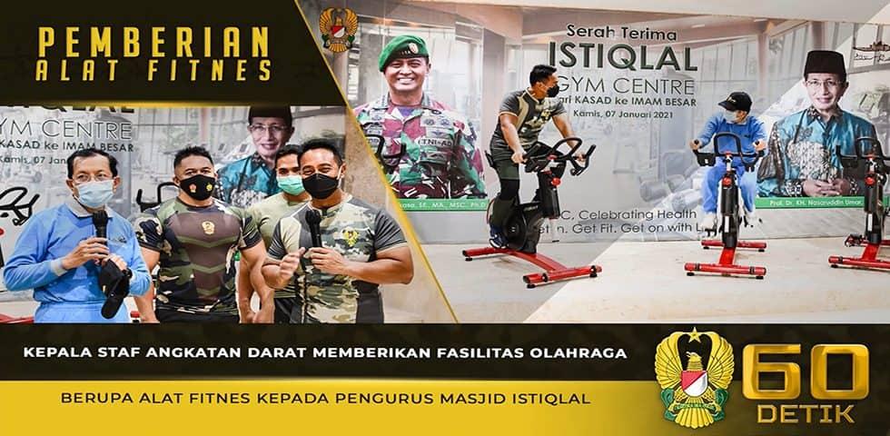 Kasad Memberikan Fasilitas Olahraga kepada Pengurus Masjid Istiqlal