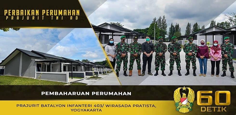Pembaharuan Perumahan Prajurit Batalyon Infanteri 403/ Wirasada Pratista, Yogyakarta
