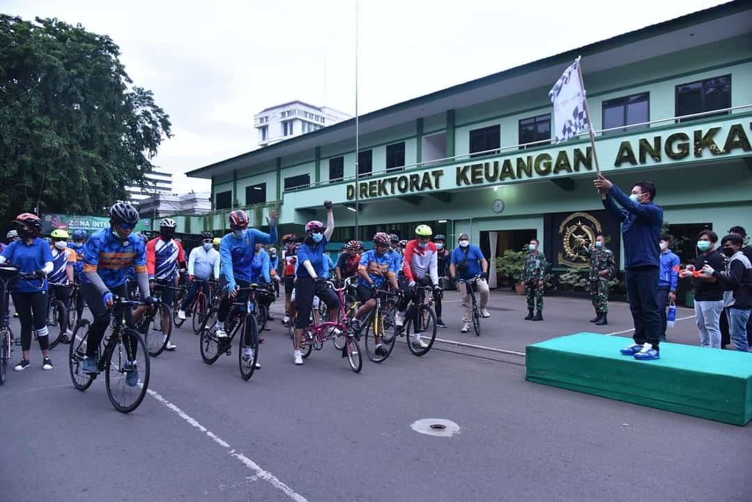 Jalin Sinergitas Ditkuad Gowes Bareng BTN