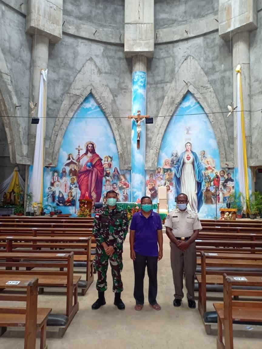 Pererat Silaturahmi Dengan Tokoh Agama, Kabintal Cenderawasih Kunjungi Gereja Katedral Jayapura