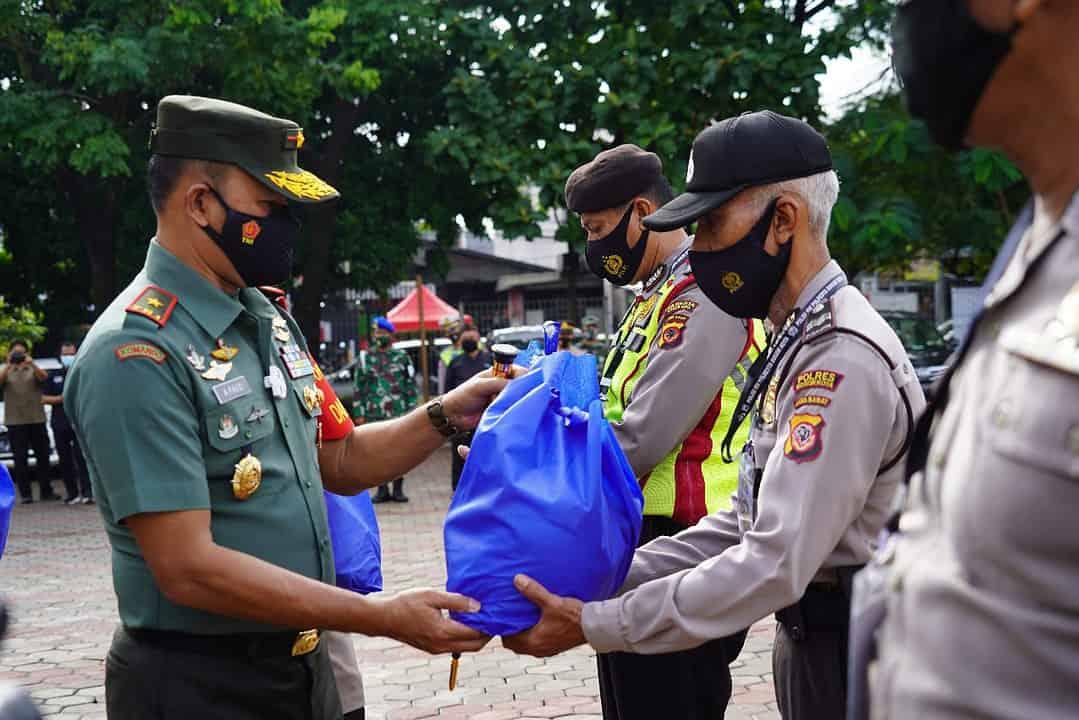 Danrem 061/SK Pimpin Apel Sinergitas Tiga Pilar Dalam Penanganan Covid-19 Di Wilayah Bogor