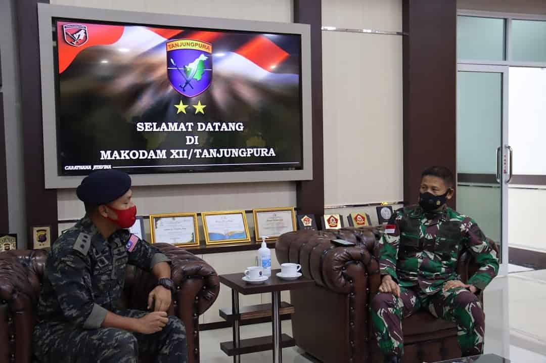 Pererat Kerja Sama, Pangdam XII/Tpr Terima Kunjungan LO PDRM