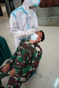 Cegah Penyebaran Covid-19, Personel Korem 061/SK Rapid Test Antigen Kedua Kalinya