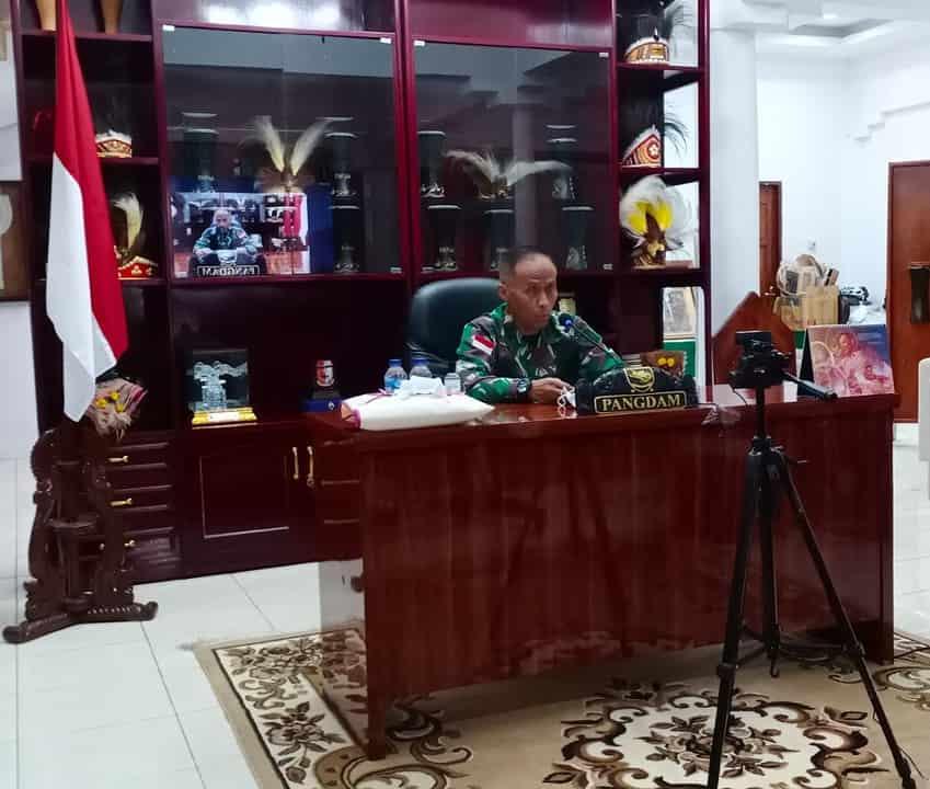 Cari Solusi Terbaik di Papua, Pangdam XVII/Cenderawasih Ikuti Webinar Bersama Tokoh Papua dan Akademisi