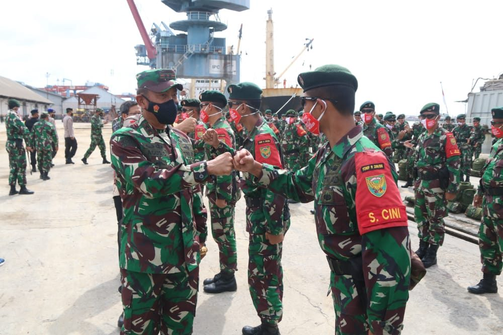 Selesai Jaga Perbatasan RI-Malaysia, Yonif R 200/BN Tiba di Palembang