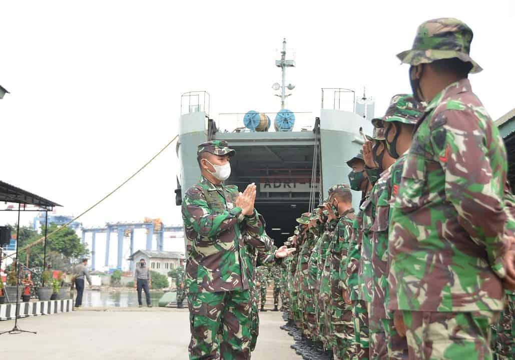 Kapal ADRI-L Kembali Dari Misi Kemanusiaan di Kalimantan Selatan