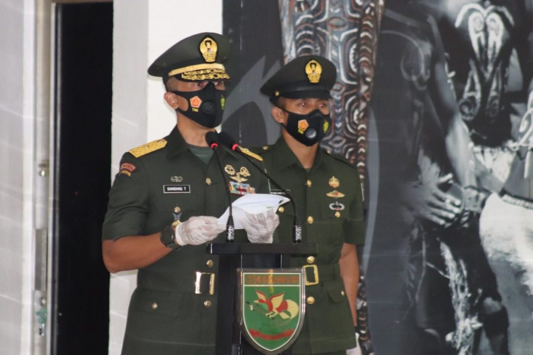 Kodam XVII/Cenderawasih Lantik 447 Prajurit TNI AD