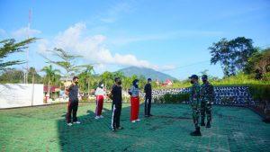 Satgas Yonif 642 Berikan Pelatihan Bela Negara Kepada CPNS Cabjari Sanggau