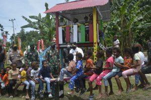 Danrem 172/PWY Resmikan Pondok Baca Dan Taman Bermain di Perbatasan RI – PNG