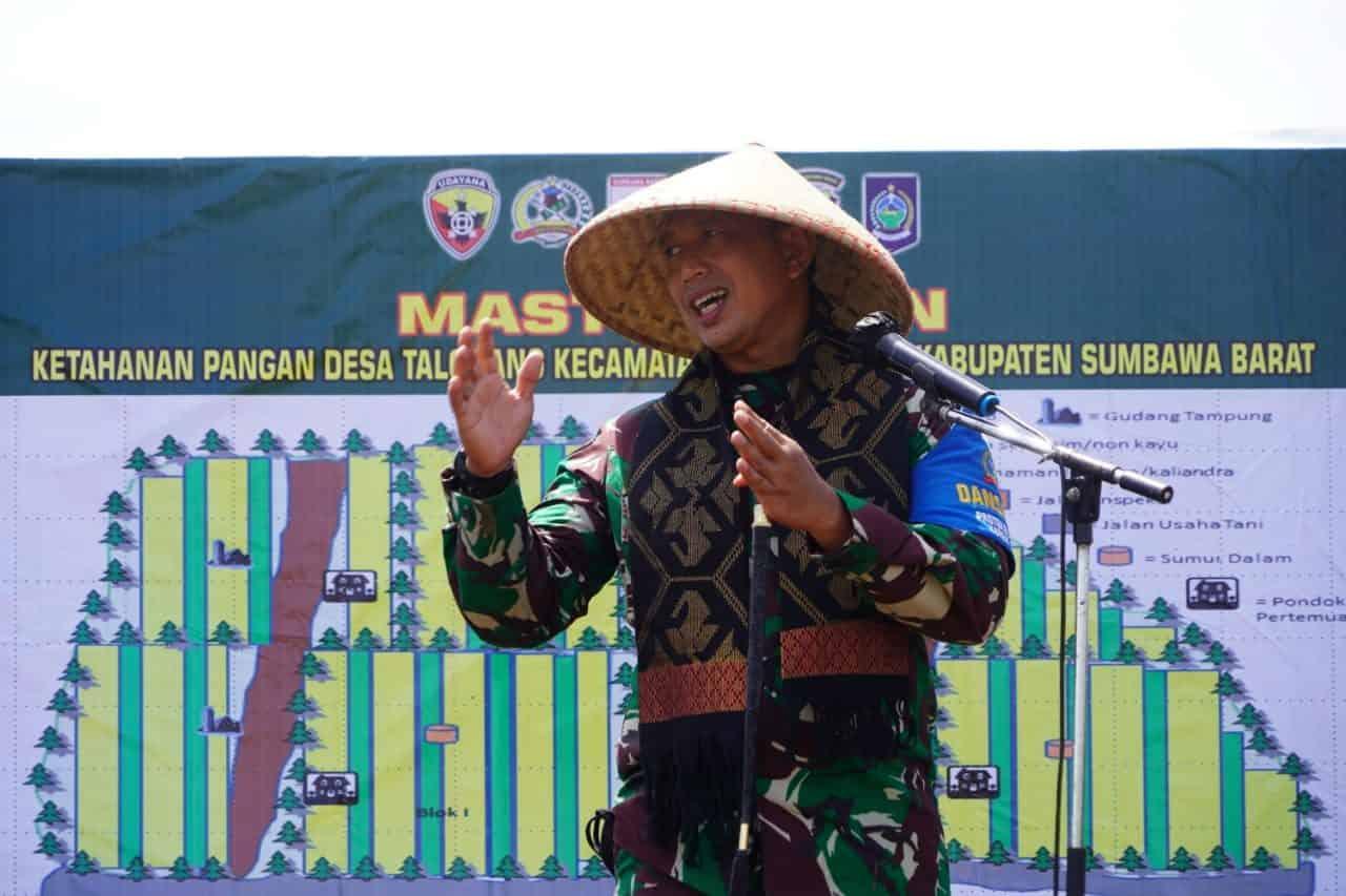 Dukung Ketahanan Pangan, Danrem 162/WB Siapkan Lahan 150 Hektar