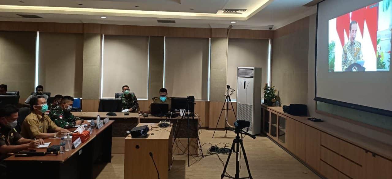 Korem 174 Merauke Ikuti Pengarahan Presiden Terkait Penanganan Karhutla Secara Virtual
