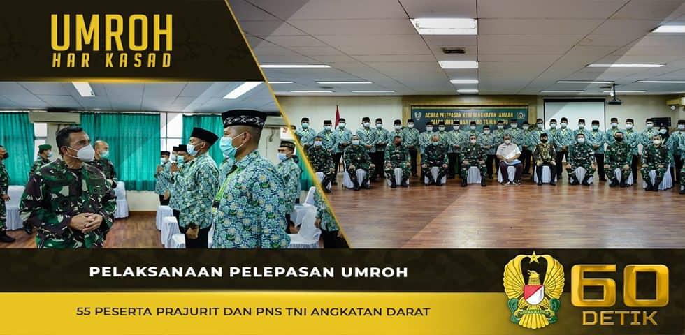 Pelaksanaan Pelepasan Umroh 55 Peserta Prajurit dan PNS TNI AD