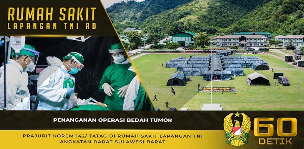 Penanganan Operasi Bedah Tumor Personel Korem 142/Tatag di RS Lapangan TNI AD