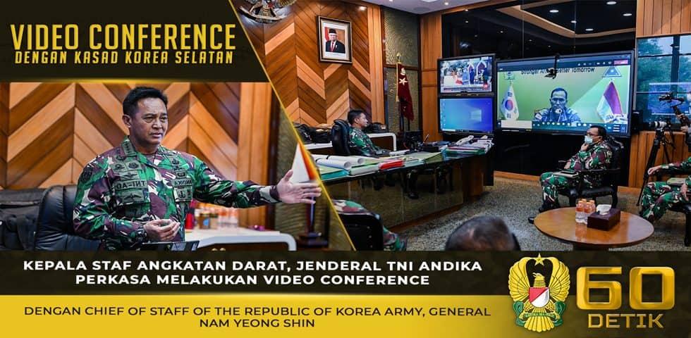 Video Conference Kasad dengan Kepala Staf Angkatan Darat Korea Selatan