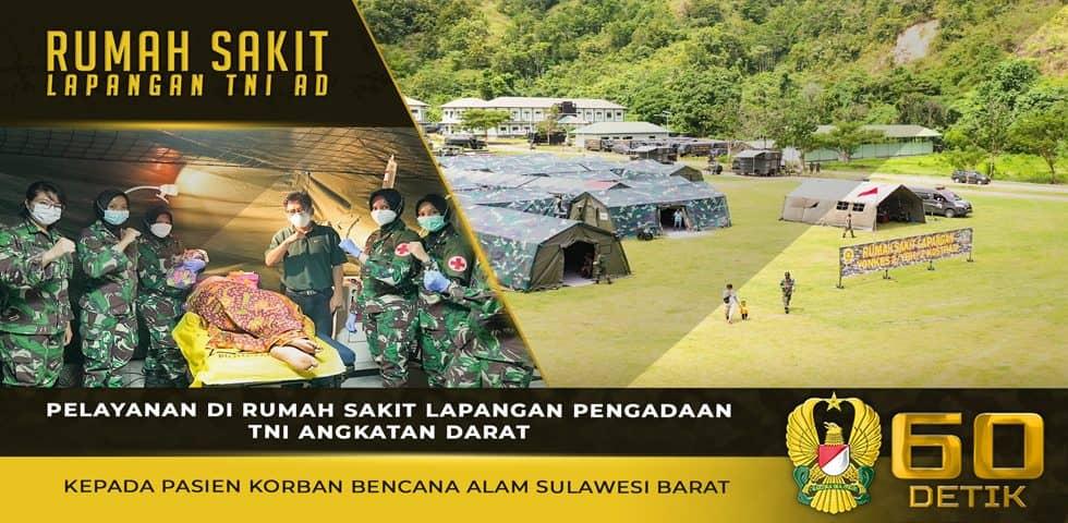 Pelayanan di RS Lapangan Pengadaan TNI AD Kepada Pasien Korban Bencana Alam Sulawesi Barat