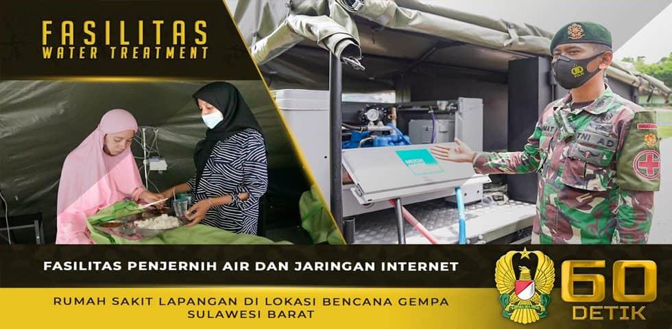 Fasilitas Penjernih Air dan Jaringan Internet RS Lapangan di Lokasi Bencana Gempa Sulawesi Barat