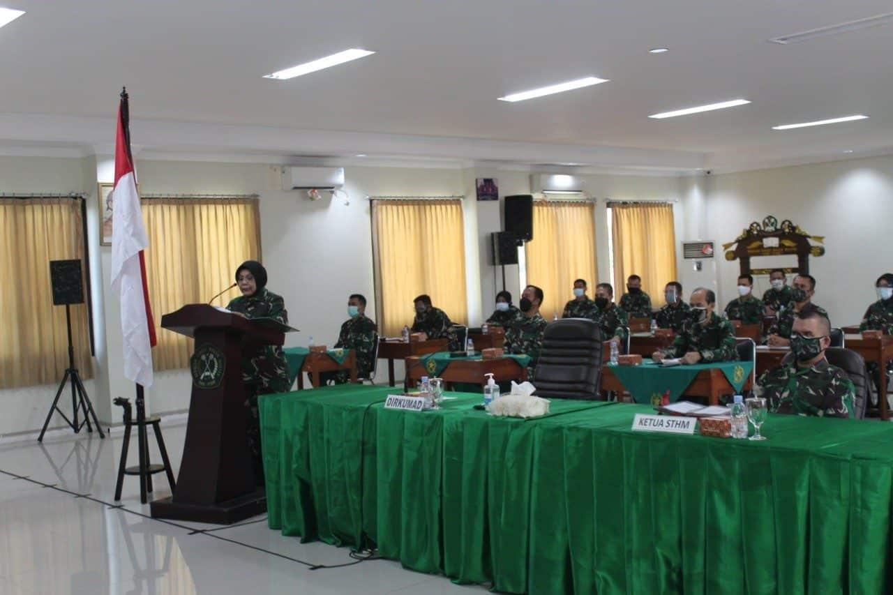 Sambut HUT ke 69 Korps Hukum TNI AD, Hukum Divif 2 Kostrad Ikuti Webinar