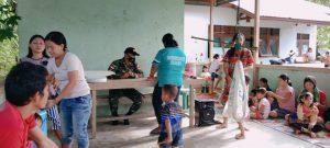 Gelar Posyandu, Satgas Yonif 407 Jaga Kesehatan Warga Perbatasan