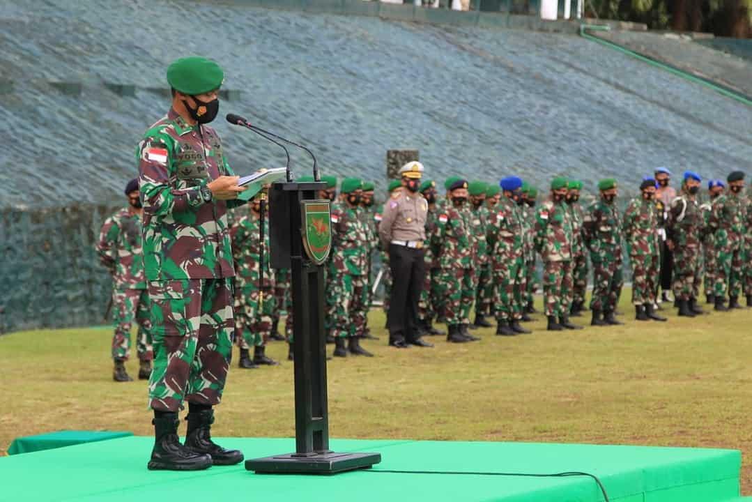 Tingkatkan Disiplin Dan Kepatuhan Prajurit, Pangdam Cenderawasih Resmi Gelar Operasi Gaktib Dan Yustisi Polisi Militer
