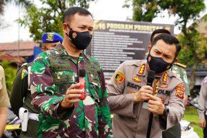 Danrem 061/SK Dukung Polresta Bogor Tindak Pengendara Roda Dua Knalpot Bising