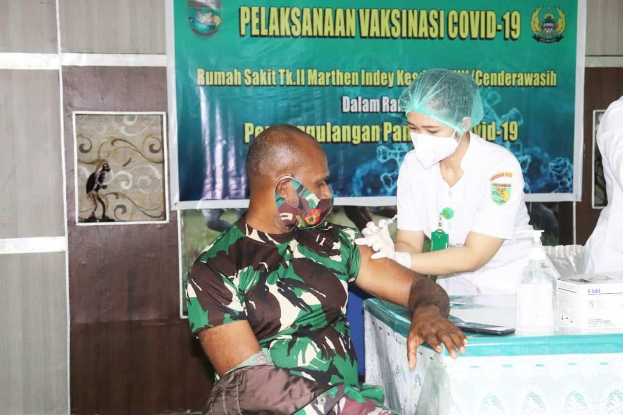 Dukung Program Nasional, Kodam XVII/Cenderawasih laksanakan Vaksinasi Covid-19