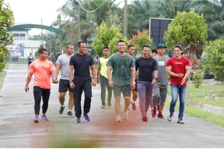 Persiapkan PON XXI Aceh-Sumut, Danyonif 126/KC Gembleng Atlet Binaraga Asahan