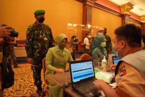 Danrem 061/SK Bersama Walikota Bogor Pantau Langsung Vaksinasi Massal di Kota Bogor