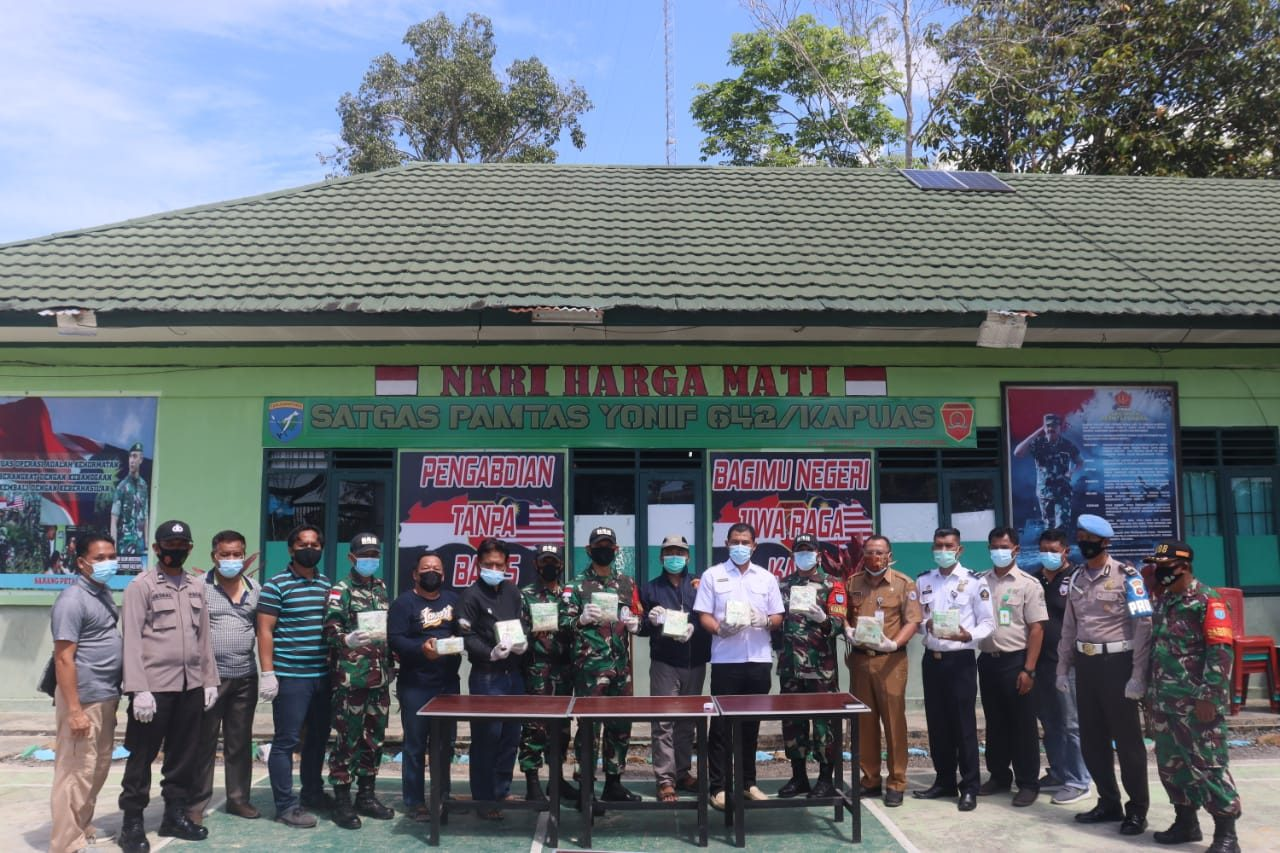 Satgas Yonif 642 Kembali Gagalkan Penyelundupan Sabu Di Perbatasan RI-Malaysia