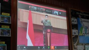Digelar Virtual, Korem 174 Ikuti Rakor Teritorial TNI TA. 2021 Dengan Kasum TNI