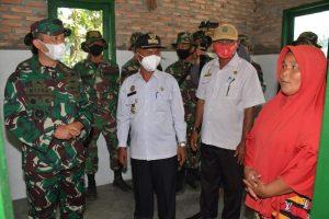 Kadispenad Tinjau Rehab RTLH, Do'a Ibu Montan br. Pasaribu Terkabul Miliki Rumah Baru