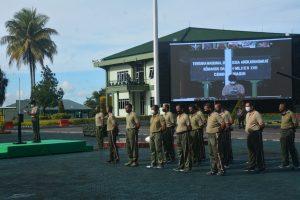 Apel Dansat Kodam XVII/Cenderawasih, Pangdam Minta Para Dansat Tegakkan Prokes dan Dukung Pelaksanaan PON XX Papua
