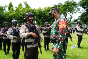 Danrem 162/WB Pimpin Apel Kesiapan Pengamanan Kunker Mantan Wapres Jusuf Kalla