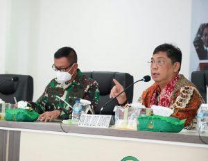Pangdam II/Sriwijaya Dampingi Tim Komisi I DPR RI Kunjungi Korem 045/Gaya