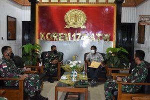 Banyak Prajurit TNI Asal Papua, Bupati Mappi Temui Danrem