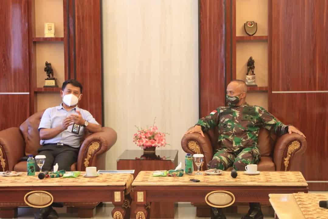 Dukung Pasokan Listrik Bagi Suksesnya PON XX, GM PLN Unit Papua Temui Pangdam